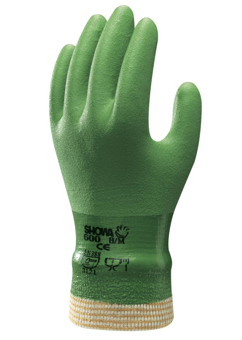 Showa Atlas 600 Vinylove Chemical Resistant Gloves Palmflex