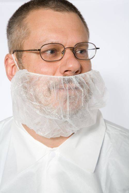 Safety Zone Polypropylene White Beard Covers Palmflex