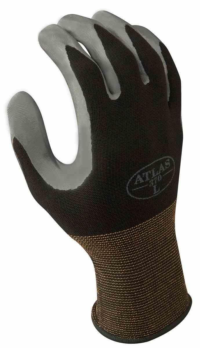 PalmFlex U003e Work Gloves U003e Atlas 370 Black Nitrile Gloves | Palmtech Gloves