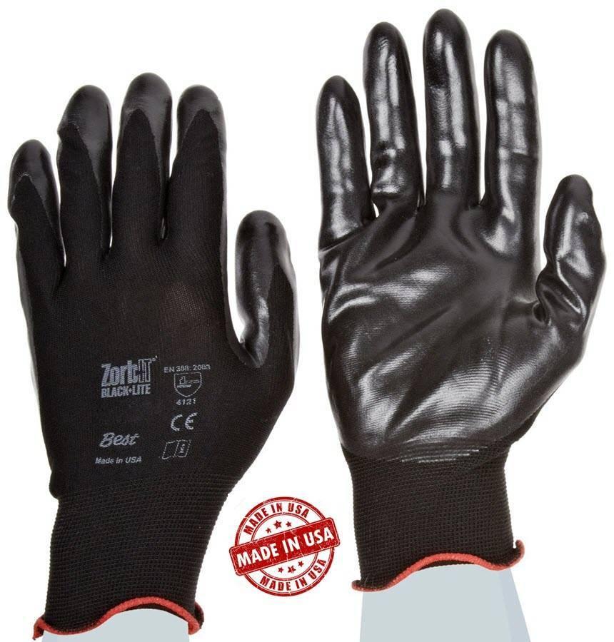 Showa Taa 4540 Zorb It Black Lite Gloves Made In Usa
