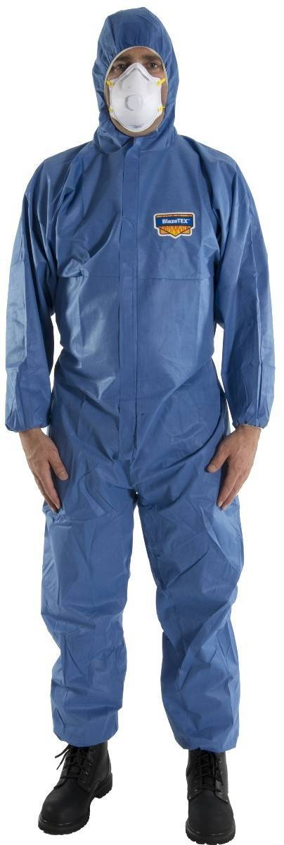 Majestic 74 202f Fr Blazetex Sms Blue Coveralls With Hood