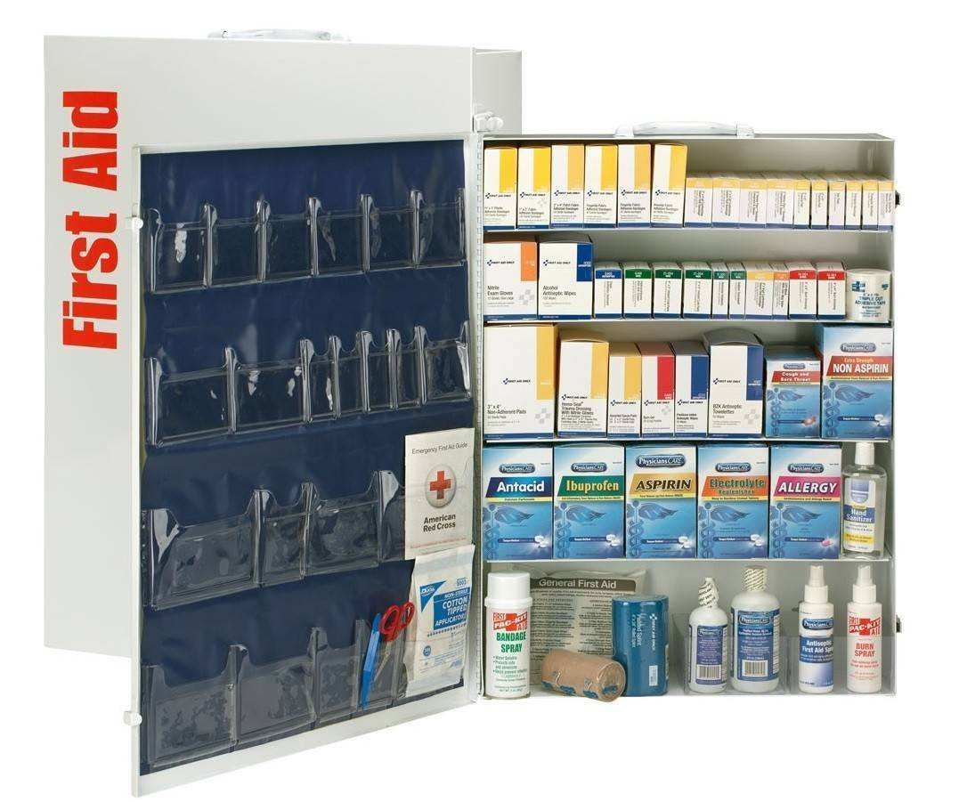 200 Person 5 Shelf First Aid Metal Cabinet Palmflex