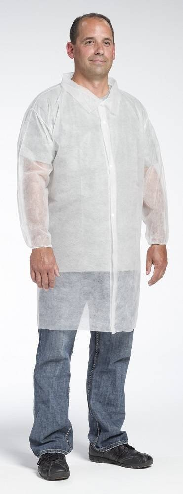 West Chester 3512 Spunbond Polypropylene Lab Coat No