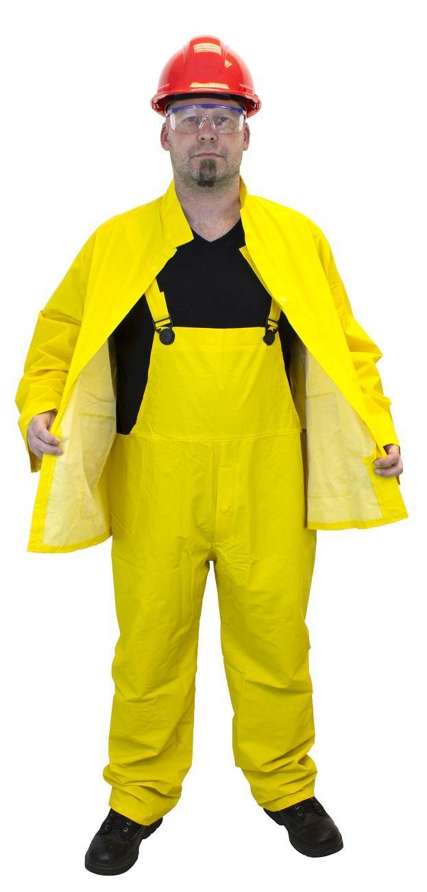 Safety Zone Yellow 3 Piece Pvc Polyester Rain Suit Palmflex