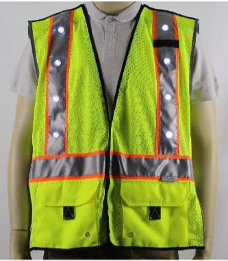 Stop Lite Rechargeable Led Hi Vis Safety Vest Palmflex