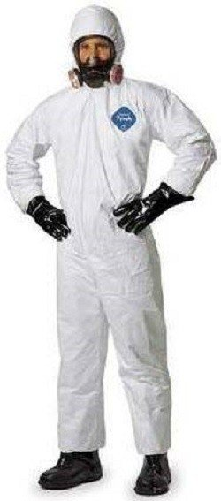 Dupont Tyvek Coveralls With Hood And Elastic Cuffs Ty127