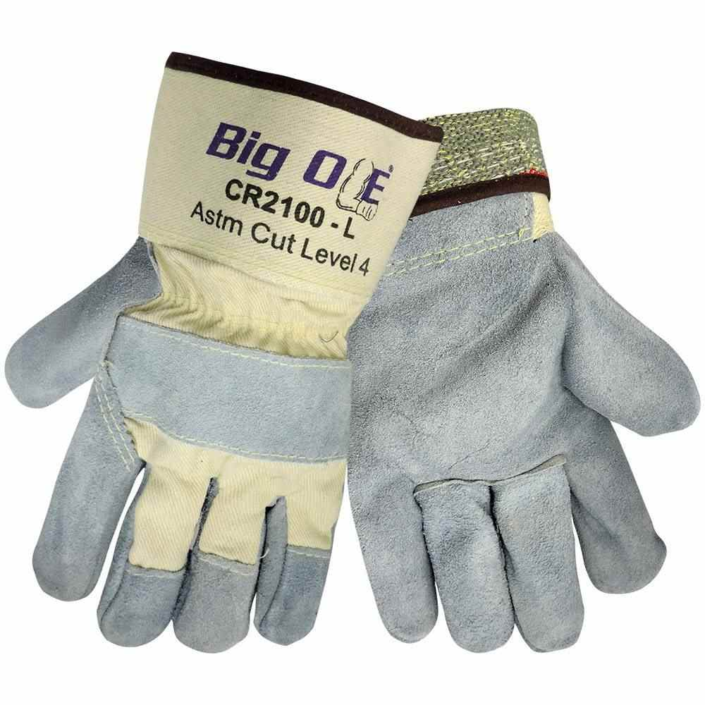 Global Glove Cr2100 Big Ole Cut Resistant Leather Palm