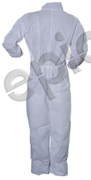 Tian's 215883 Polypropylene White Coveralls with Elastic Wrists