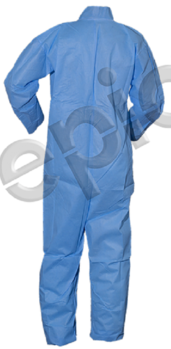 Tian's 216790 SMS Blue Coveralls with Open Wrists and Ankles