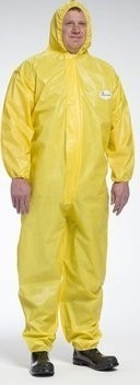 West Chester 3678B PosiUB Plus Yellow Coveralls with Hood - Tyvek Alternative