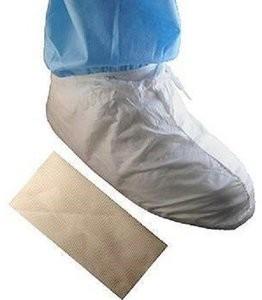 "Tian's ""Tyvek Like"" MP Coated Waterproof Cleanroom Shoe Covers #51658"