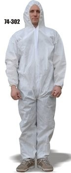 Majestic 74-302 ResisTEX PP/CPE Coated Coveralls with Hood