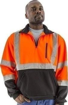 Majestic Hi-Vis ¼ Zip Sweatshirt with Teflon® Fabric Protector - ANSI 3