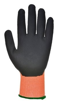 Portwest A625 HPPE Hi Vis Cut Level 4 PU Gloves