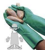 11 Mil Unlined Green Nitrile Gloves - Dozen