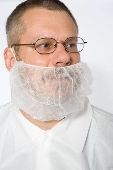 Safety Zone Polypropylene White Beard Covers