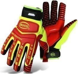 BOSS 1JM770 Hi-Vis Anti-Vibration Impact Gloves
