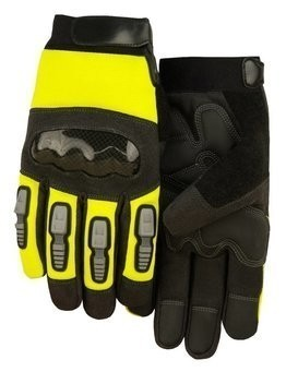 Majestic 2123HV Knuckle Guard Heavyweight Hi Vis Gloves