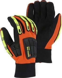 Majestic 21252 Knucklehead Omega 1 Hi Vis Gloves