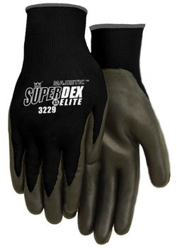 Majestic 3229 SuperDex Elite Black Nitrile Palm Coated Gloves
