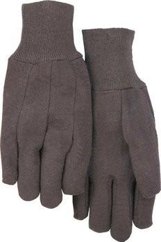 Majestic 3401B Cotton Blend Brown Jersey Gloves