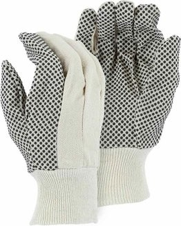 Majestic 3405 Cotton Gloves with Dots
