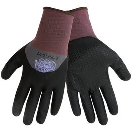 Global Glove #530NFTD Tsunami Grip 3/4 Dippped New Foam Technology With Nitrile Dots