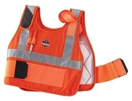 Ergodyne Chill-Its 6215HV Orange Phase Change Premium Cooling Vest & Charge Pack