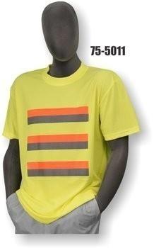 Majestic 75-5011/5012 Hi Vis Striped Short Sleeve Shirt- NON ANSI