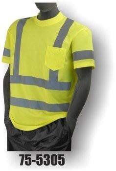 Majestic 75-5305/5306 Hi-Vis Short Sleeve Shirt w/ Pocket - ANSI 3