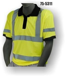 Majestic 75-5311 Birdseye Polyester Hi-Vis Polo T-Shirt - ANSI 3
