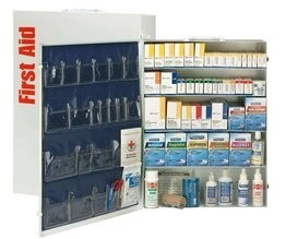 200 Person 5 Shelf First Aid Metal Cabinet