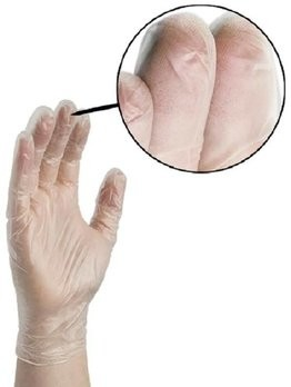 Ammex Vinyl Anti-Microbial 4 Mil Powder Free Gloves
