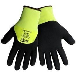 Global Glove Samurai CR183NFT Hi Vis Cut Resistant 3/4 Nitrile Foam Dipped Gloves