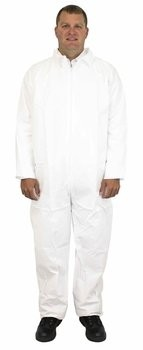 Safety Zone 60 Gram Breathable Barrier (BB) Coveralls with Open Wrists and Ankles -  60 Gram- DCWH-SZ-BB