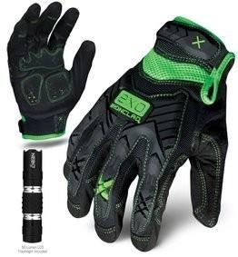 Ironclad EXO Motor Impact Gloves w/ Free Flashlight