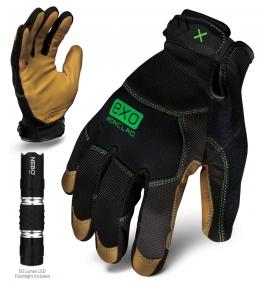 Ironclad EXO Modern Leather Gloves w/ Free Flashlight