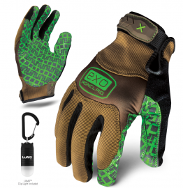 Ironclad EXO Project Grip Gloves w/ Free Lumo Cliplight