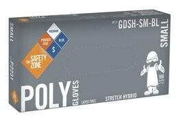 Safety Zone Micro-Textured Blue Poly Vinyl Powder Free Gloves