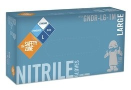 Safety Zone 4 Mil Blue Nitrile Powdered Gloves