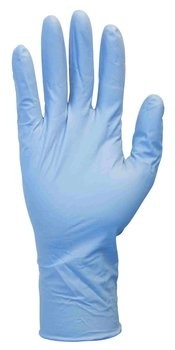 "Safety Zone 8 Mil Blue Nitrile Exam Powder Free 12"" Gloves"