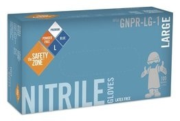 Safety Zone Premium 6 Mil Blue Nitrile Powder Free Gloves