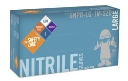 Safety Zone Mil Indigo Nitrile Powder Free Gloves