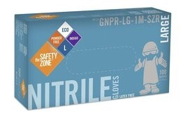 Safety Zone Indigo Nitrile Exam Powder Free Gloves