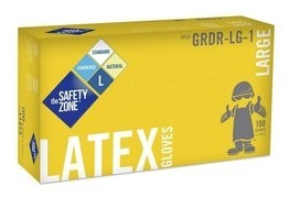Safety Zone GRDR-1-T 4.5 Mil Latex Powdered Gloves