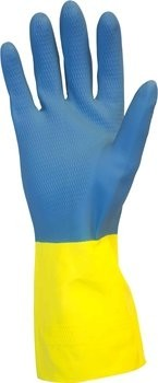Safety Zone 28 Mil Neoprene Over Yellow Flock Lined Latex Gloves GRLY-1SF