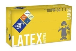 Safety Zone GRPR-1-T 4.5 Mil Latex Powder Free Gloves
