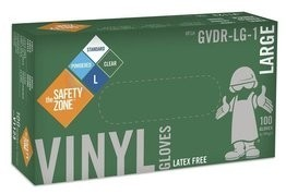 Safety Zone GVDR-1  4 Mil Vinyl Powdered Gloves