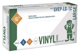 Safety Zone 4 Mil Vinyl Exam Powder Free Gloves