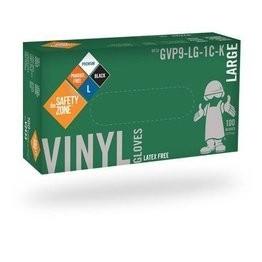 Safety Zone GVP9-1C-K Premium Black Vinyl Powder Free Gloves